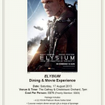 Cathay Cineplexes 'Elysium' Dining and Movie Experiences (17 Aug 2013)