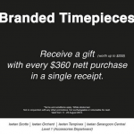 Isetan Branded Timepieces Sales (Till 25 Aug 2013)
