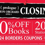 Prologue Ion Orchard Closing Sale (Till 25 Aug 2013)
