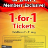 SAFRA Members' Exclusive – 1 For 1 Movie Tickets (Till 11 Aug 2013)
