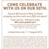 Wing Tai 50th Anniversary Celebratory Treat (Till 9 Aug 2013)