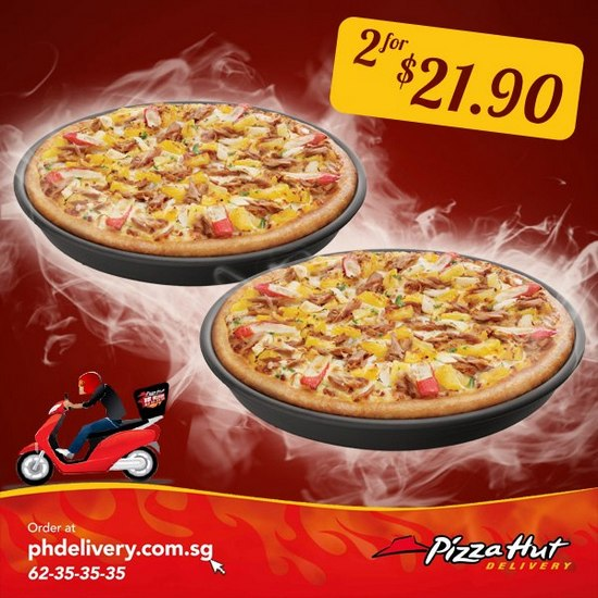 Pizza Hut Delivery Promotion 2 For 21 90 Singapore Great Deals