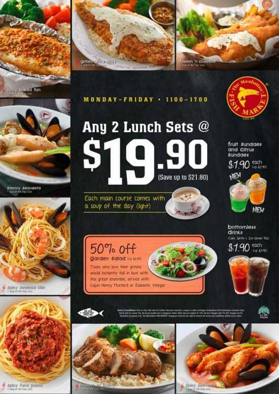 The manhattan fish market lunch set deals any 2 for City fish market menu