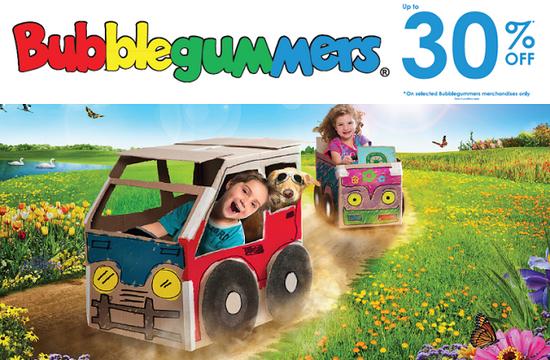 Bubblegummers Promotion (Till 31 Aug 2013)