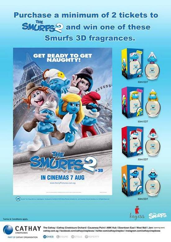 Cathay Cineplexes The Smurfs 2 Smurfingly Awesome Deal