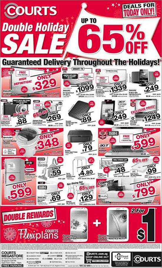 Courts Double Holiday Sale - Up To 65 Off
