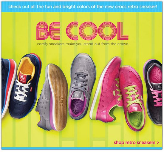 Crocs Retro Sneakers Promotion