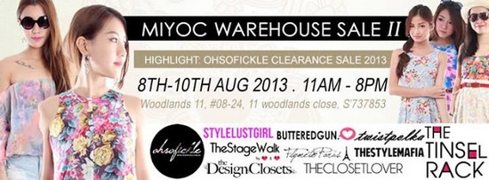 MIYOC Warehouse Sale II (8 - 10 Aug 2013)