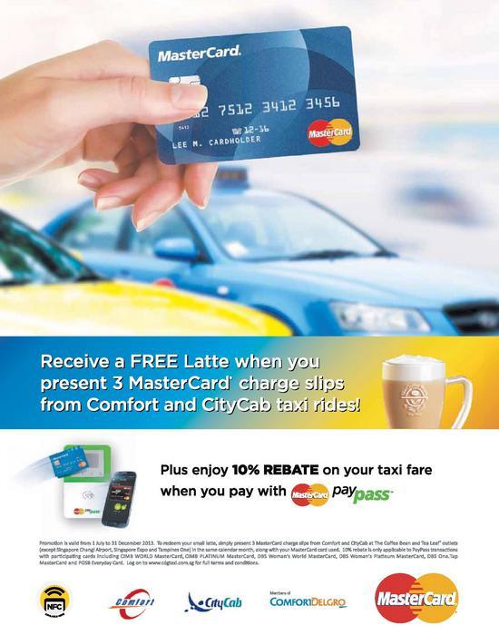 MasterCard Paypass Free Latte