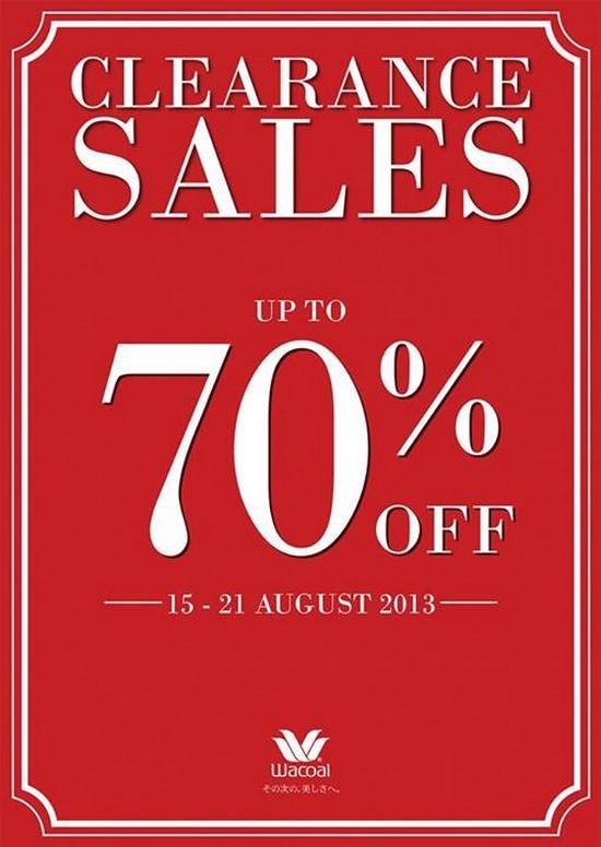Metro Wacoals Clearance Sale (Till 21 Aug 2013)