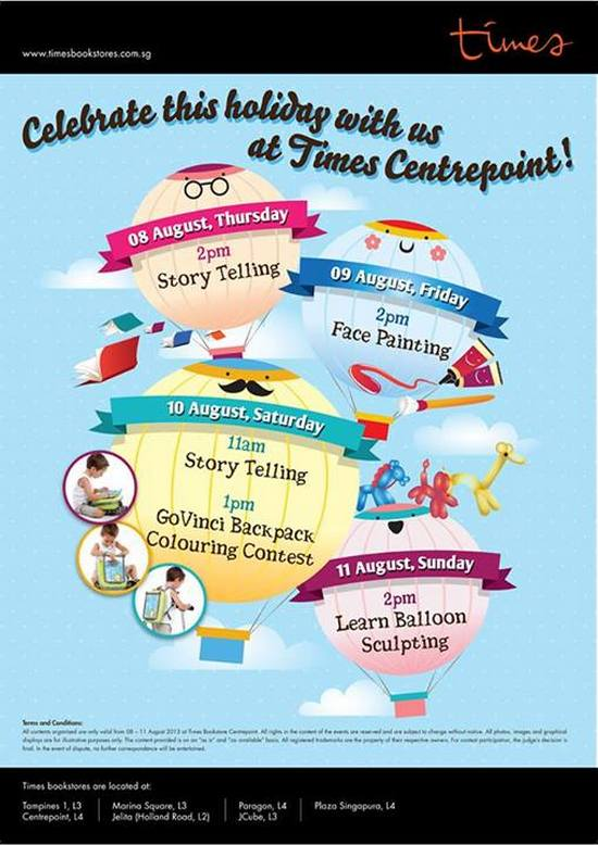 Times Bookstore Centrepoint Activities (Till 11 Aug 2013)