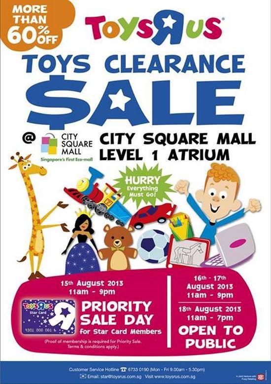 Toys R Us Toys Clearance Sale (Till 18 Aug 2013)