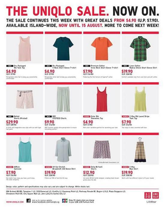 Uniqlo Sale (Till 15 Aug 2013)