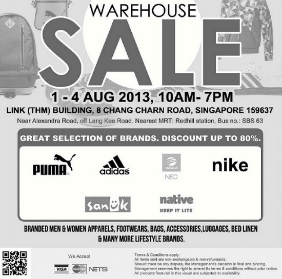 Warehouse Sale (1 - 4 Aug 2013)