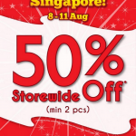Bossini National Day Sale – Enjoy 50% Off Storewide (Till 11 Aug 2013)