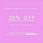 Charles & Keith Online Promotion (Till 11 Aug 2013)
